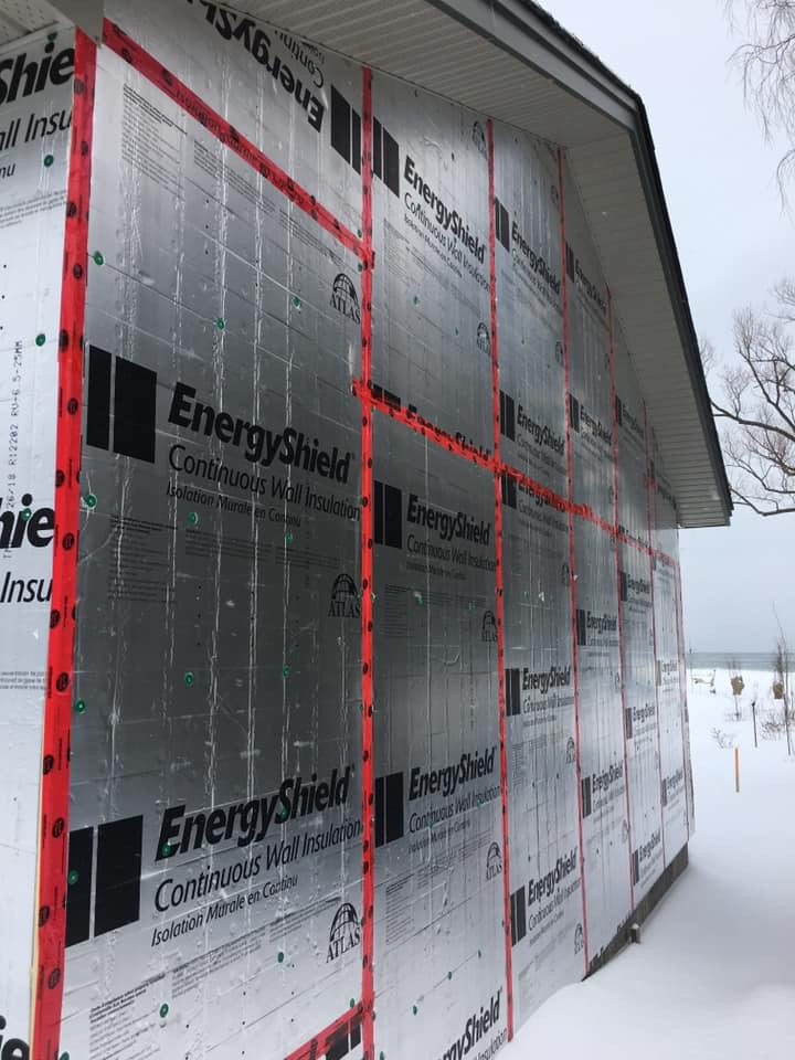 Rigid insulation and vinyl 1